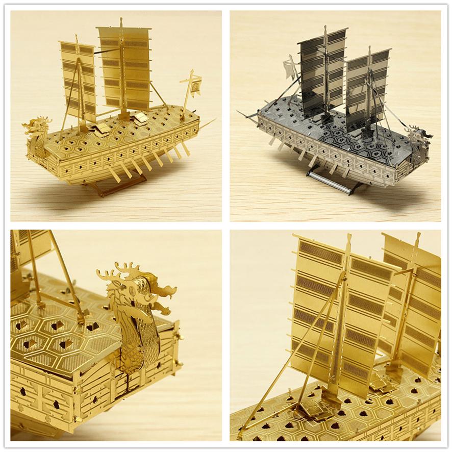 激光切割龙船模型