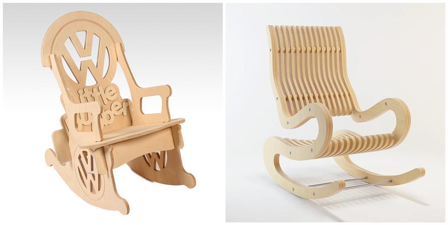 木质摇椅激光切割
