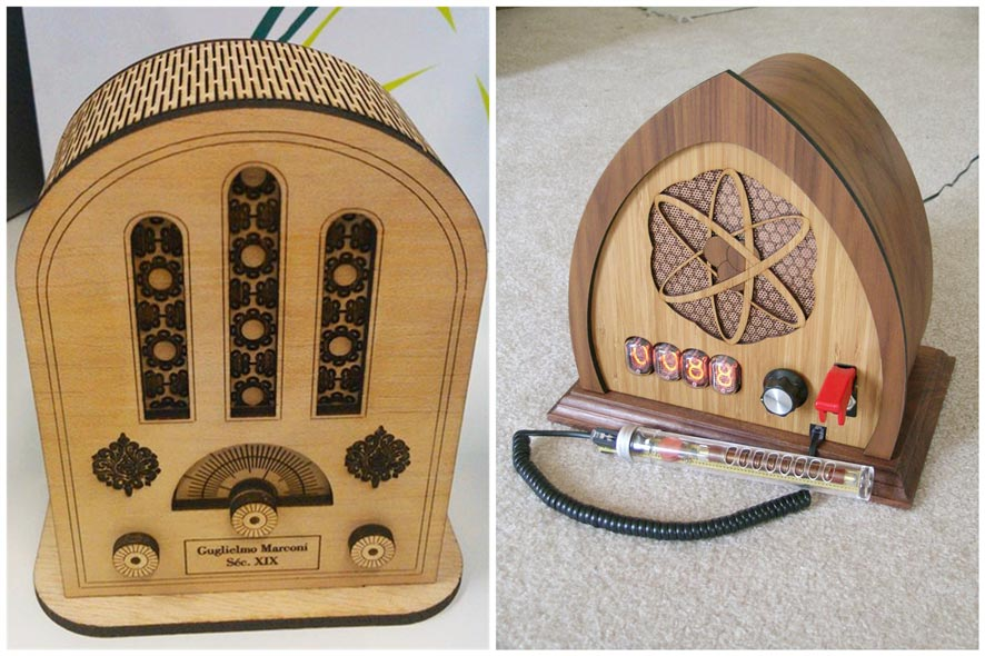 复古收音机激光切割雕刻