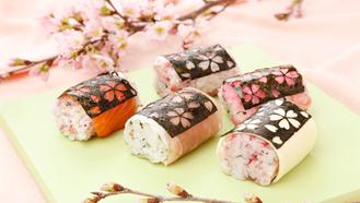 激光雕花日本寿司,激光雕刻紫菜