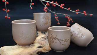 茶具激光雕刻,高端茶具器皿激光雕刻
