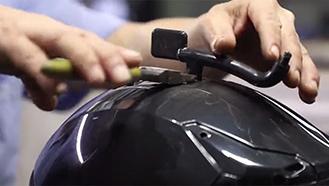 三维激光切割摩托车头盔